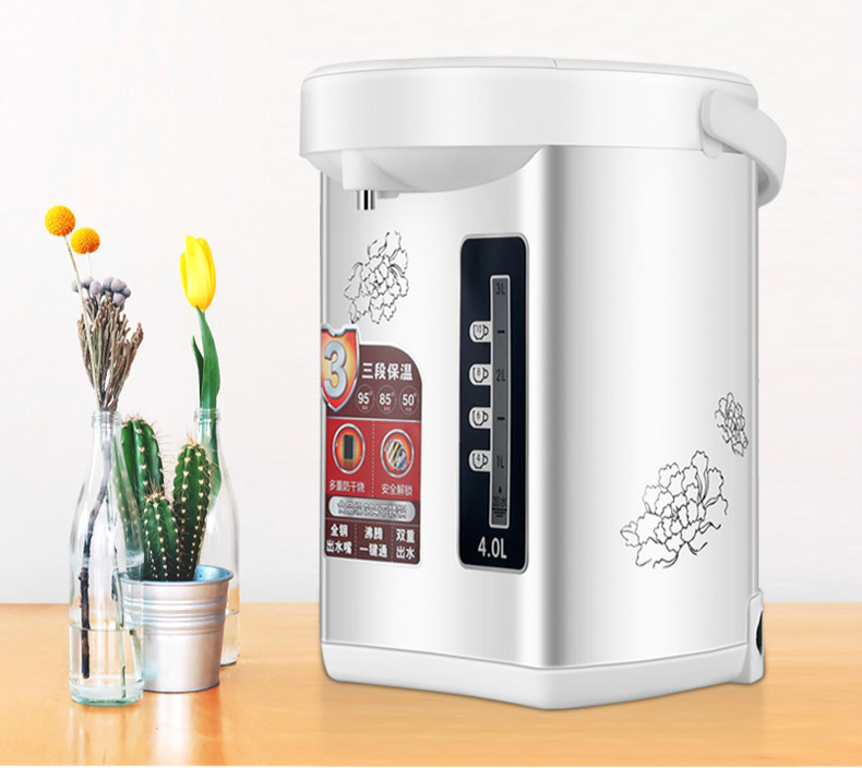 Electric water bottle 4L electric kettle 4 segment insulation food grade 304 stainless steel Anti-dry Protection 1kg food grade l threonine 99% l threonine