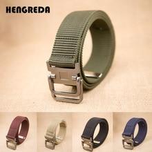 Тактический поясной ремень военный двойное кольцо металлическая пряжка армейские нейлоновые холщовые ремни для мужчин женщин мальчиков наружные спортивные джинсы