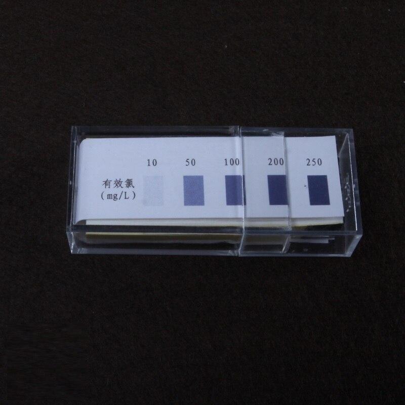 remainder chlorine PH 10-250mg/L test paper 100strip/pcs, 10pcs/pkremainder chlorine PH 10-250mg/L test paper 100strip/pcs, 10pcs/pk