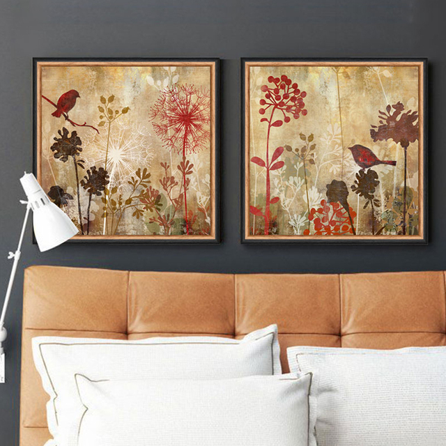 Exceptional Modern Floral Canvas Art Dandelion Silhouette Digital Inkjet Bird Bedroom  Canvas Pictures For Living Room Decoracion