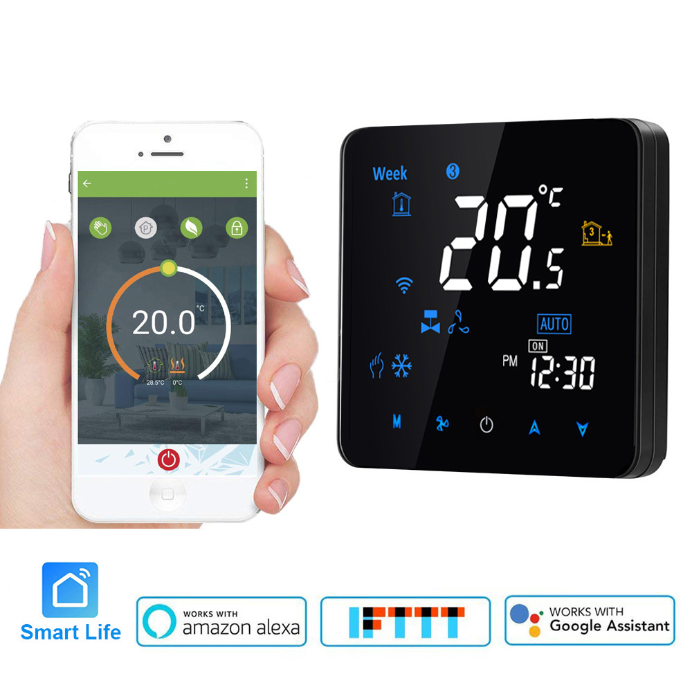 WiFi smart Thermostat Programmable Air Conditioning Two or Four Pipe temperature Control Alexa Google Voice Control Smart lifeWiFi smart Thermostat Programmable Air Conditioning Two or Four Pipe temperature Control Alexa Google Voice Control Smart life