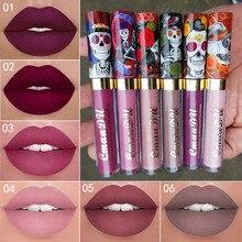 Brand Matte Liquid Lipstick Makeup Waterproof metallic  Lip Gloss Matt Red Tint Lasting Mate Nude Shimmer stick
