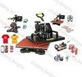Nuevo Diseño de la Máquina de Transferencia de Calor 5 en 1 T shirt/Taza/Cap/Plate/Boca Pad/caja del teléfono de la impresora, Upgrated Sublimación impresora