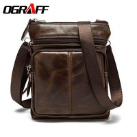 OGRAFF Genuine Leather Bag Men Messenger Bags Men Leather Business Men S Travel Bags Cowhide Briefcase