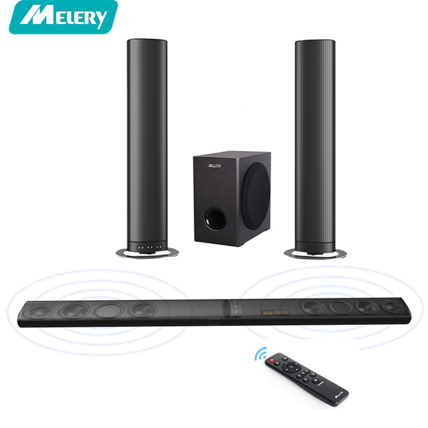 Detachable Wireless Soundbar TV Speakers Bluetooth Home Theater 5.1 Woofer Surround Sound System for xiaomi Projetor PC philips 85415vic1