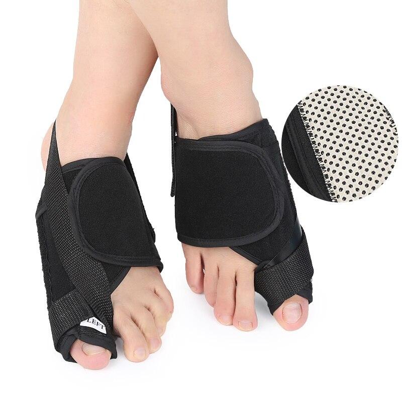 1Pair Bunion Splint Toe Straightener & Corrector Brace Pad for Hallux Valgus Pain Relief - Night Time Support for Men & Women