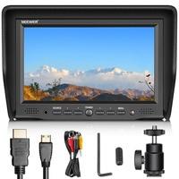 Neewer 7 inches Camera Field Monitor VGA/AV/HDMI Input IPS Screen 800:1 for Canon/Nikon/Sony/Pentax/DSLR Camera Video Monitor