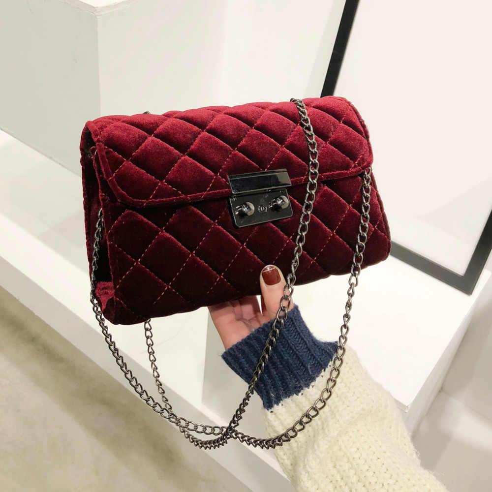 835ebb758c2 Vintage Velvet Messenger Crossbody Bag Women's Evening Clutch Bag ...