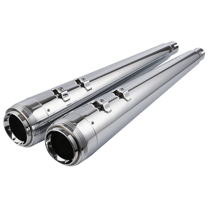 TCMT Motorcycle 4 Megaphone Slip-on Mufflers Exhaust Pipes For Harley Touring Road King Electra Street Glide FLHR FLH FLTR rsd motorcycle 5 hole beveled derby cover aluminum for harley touring flh t 2016 2017 for flhtcul and flhtkl 2015 2016 2017