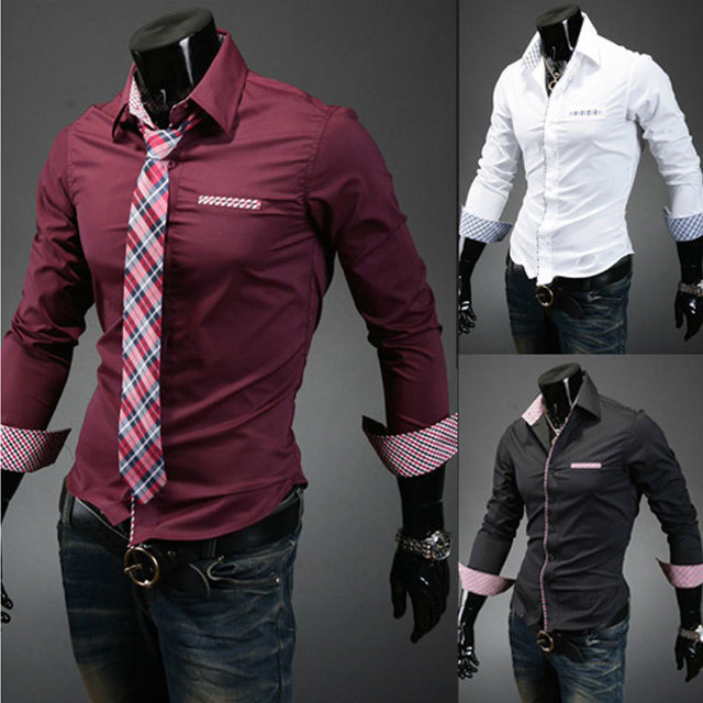 casual men shirts long sleeve camisa masculina camisetas social roupas  blusas slim fit casual-shirts for male clothing 231 9b5309b5f6cb8