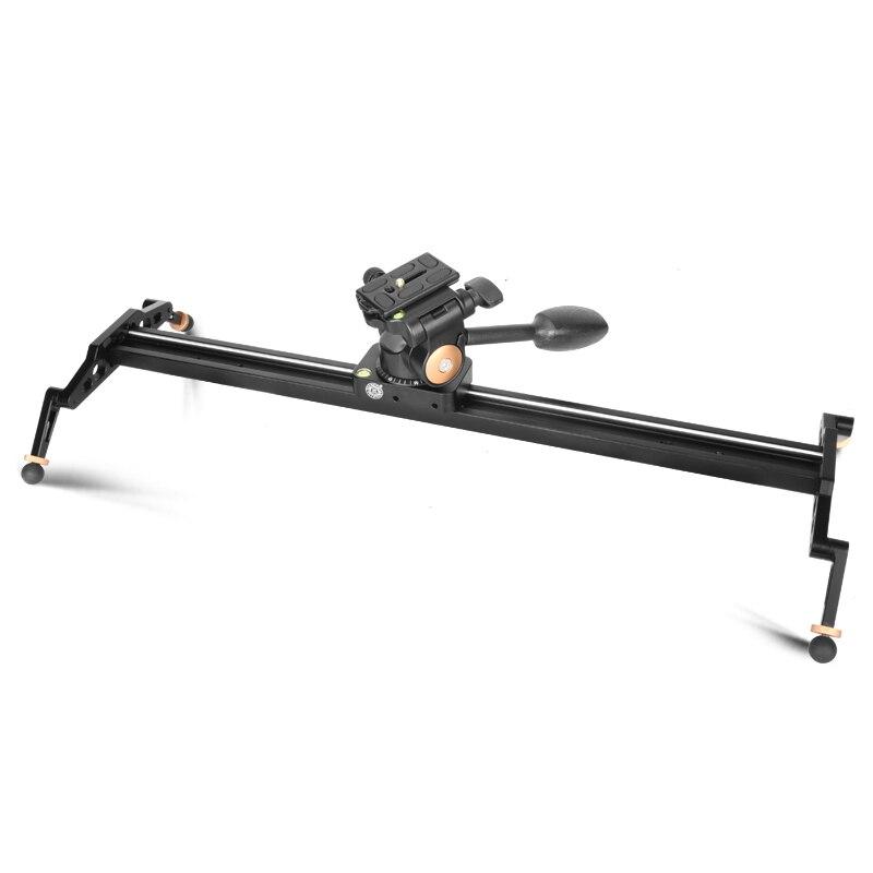 60 cm/23.6in Aluminium Video Kamera-schienen-transportwagen-schweber für Nikon Canon DSLR kamera DV Film Vlogging getriebe