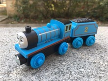 KK01–Geniune Thomas & Friends Take N Play Wooden Magnetic Toy Train Edward with Tender New Loose