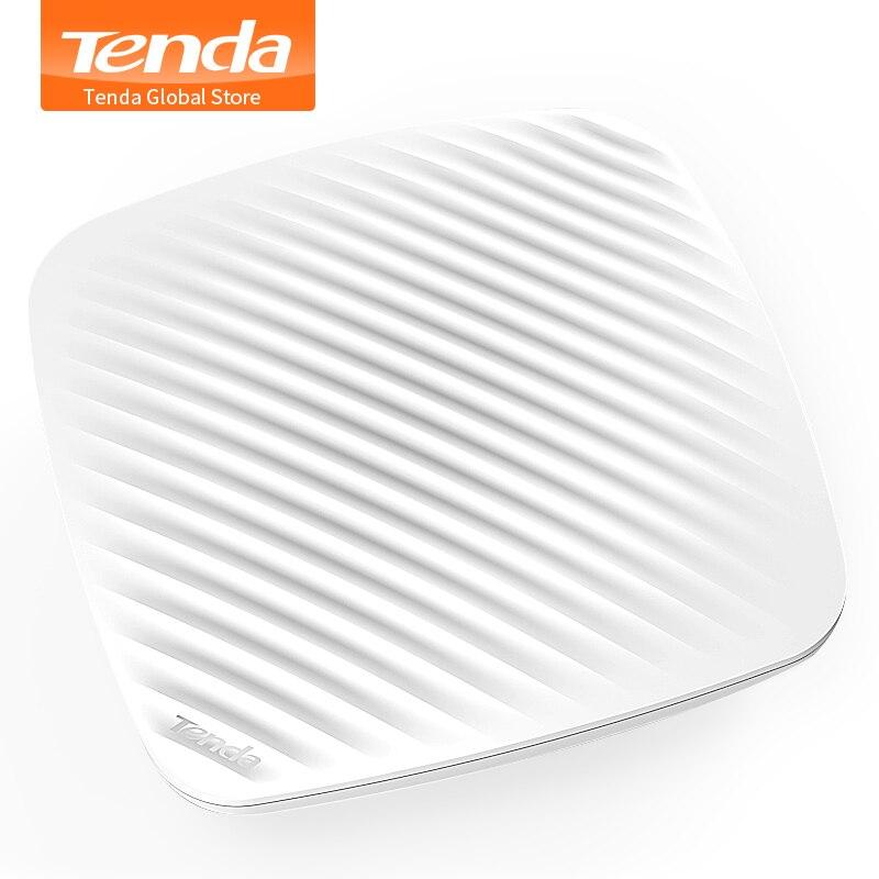 Tenda i9 300 Mbps plafond intérieur sans fil Point d'accès WiFi AP répéteur WiFi routeur d'extension avec adaptateur d'alimentation POE 9 W 802.3af