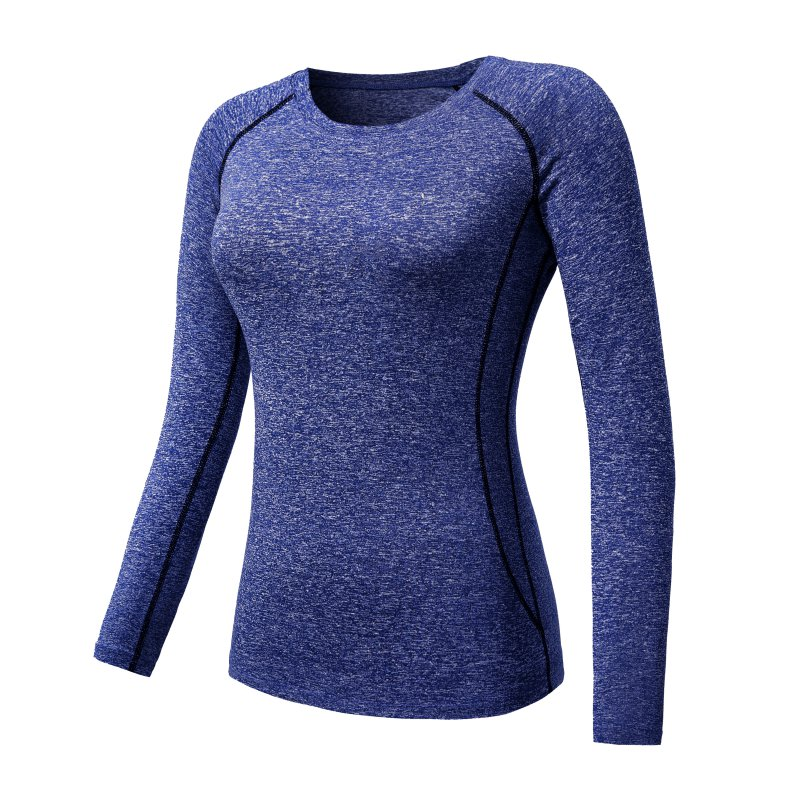 Women Long Sleeve Sports Compression T-Shirt Quick-Dry Gym Yoga Running Tops Tee 5