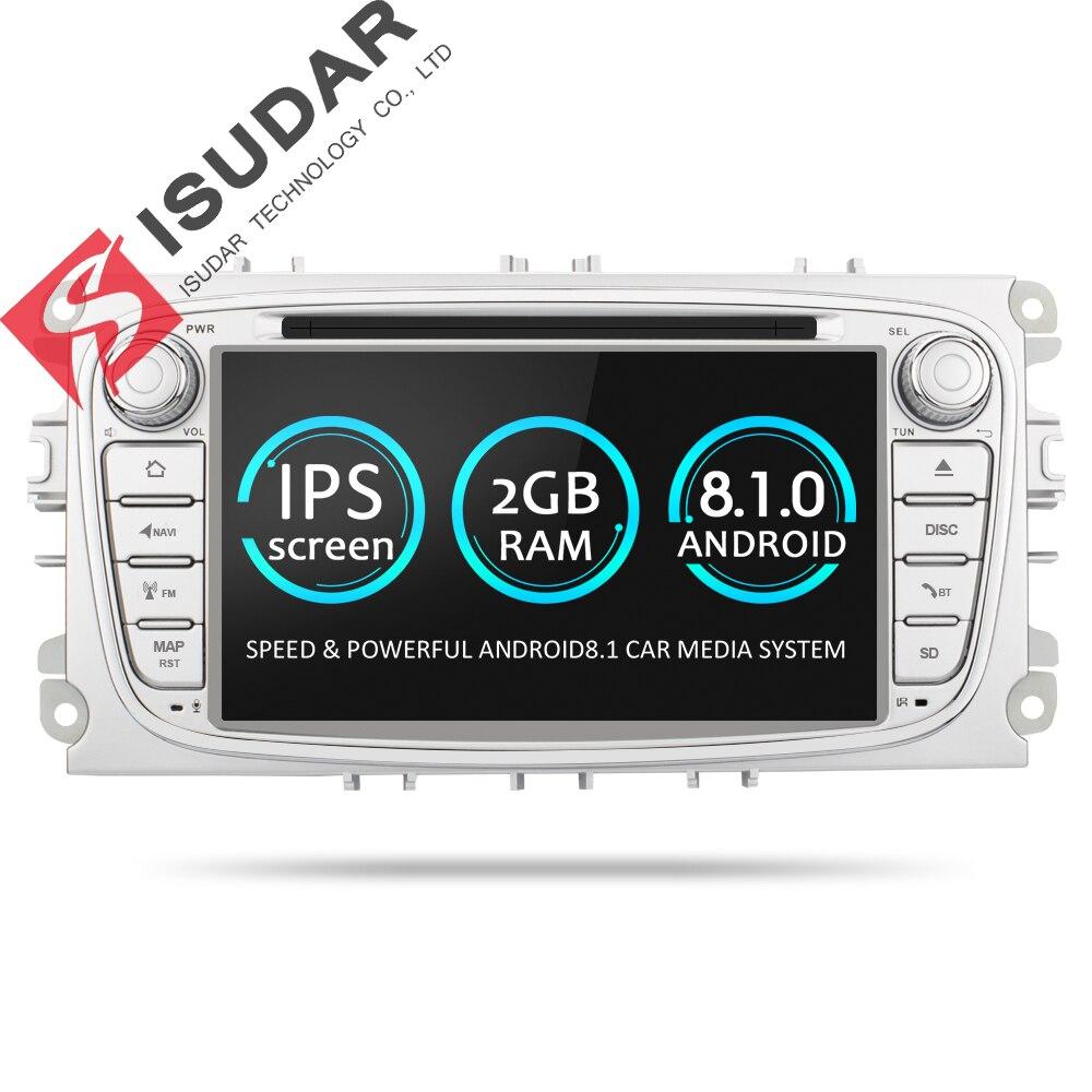 Isudar Автомагнитола 2 Din на Android 7.1.1 для FORD/Focus/S-MAX/Mondeo/C-MAX/Galaxy WIFI USB Радио FM