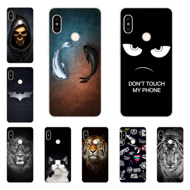 online retailer c81e8 6bff8 xiaomi redmi note 5 pro case,Silicon Gossip fish Painting Soft TPU Back  Cover for xiaomi redmi note 5 pro protect Phone shell