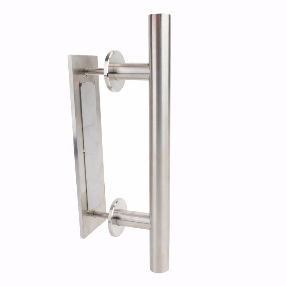 Durable Stainless Steel Sliding Barn Door Handle & Flush Pull Handle Set for Door Hardware Black Silver durable stainless steel scissors red black silver