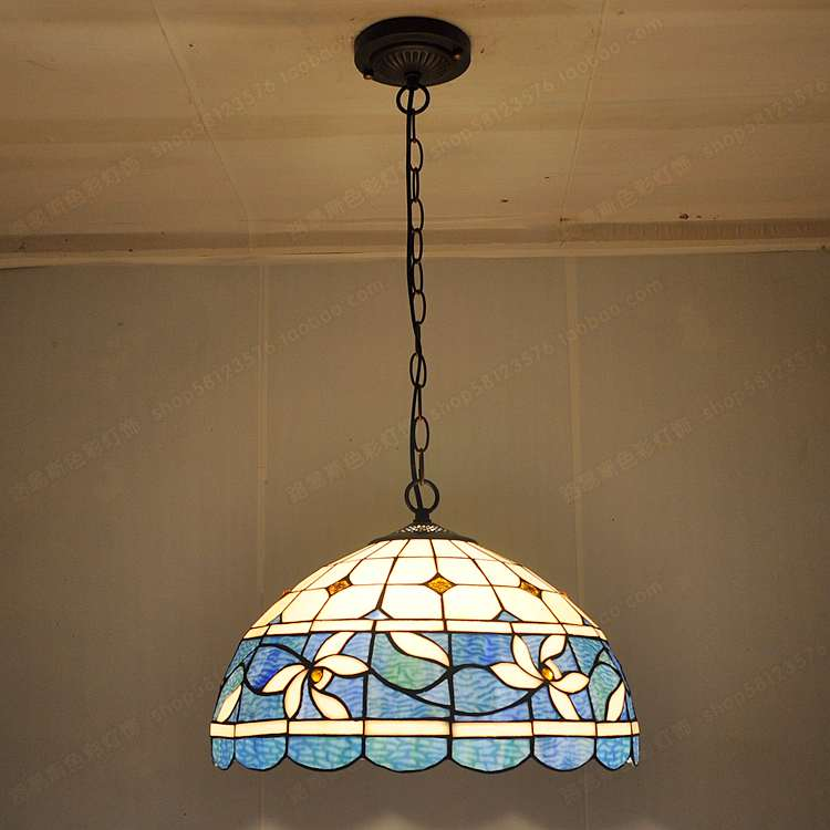 16-inch Laburnum simple European antique chandelier lighting Tiffany stained  glass nostalgic fondue restaurant chess - Popular Antique Stained Glass-Buy Cheap Antique Stained Glass Lots