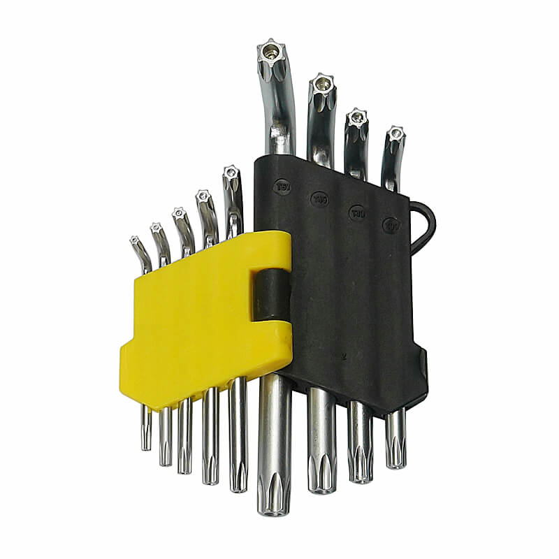 9pcs/set T10-T50 Torque Wrench Torx Socket Hexagon Key Universal Internal Hexagonal Wrench Set