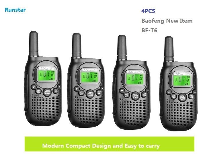 New hot item 4pcs BF-T6 baofeng two way radio portable walkie talkie CB Radio station Kids Handheld Communicator ham