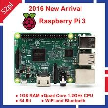 2016 Original Official Raspberry Pi 3 Model B Board 1GB RAM 1.2GHz Raspberri Pi 3 Model B 64bit WiFi & Bluetooth Raspberry Pi