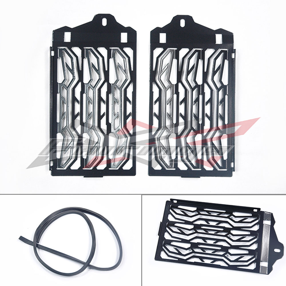 FREE SHIPPING Black Stainless Steel Radiator Guards Fit for BMW R1200GS / ADV (Water Cooled)