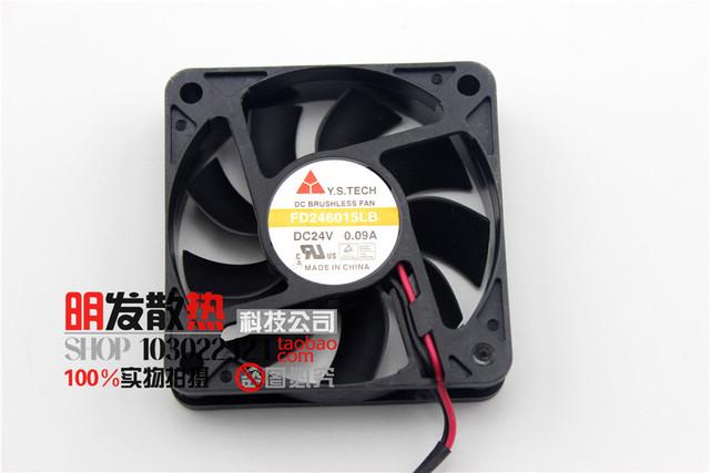 Novo 6015 24 V 0.09A FD246015LB inversor fã 6 CM