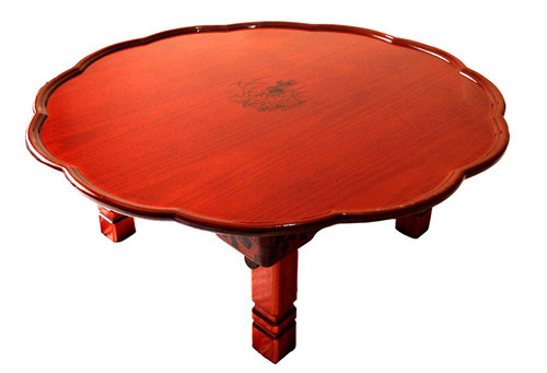 Round Korean Table Legs Folding 90cm Asian Antique Furniture For Dinning Traditional Floor Low Wooden Coffee Table Space Saving round living room table 75cm folding leg korean antique furniture asian floor table for dinning traditional wood coffee table