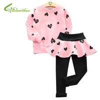 2 Pcs Toddler Girls Clothing Sets Spring Autumn Children Girls Clothes Long Sleeve T Shirt Pants