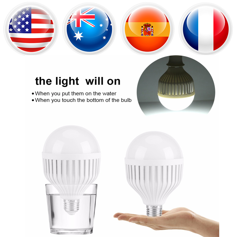 LED E27 15W Lampada Led Energy Saving Light Bulb Intelligent Emergency Bulb Light Rechargeable Lamp Bulb led emergency light bulb emergency bulb automatic charging 5 7 9 12w rechargeable battery e27 lamp clh