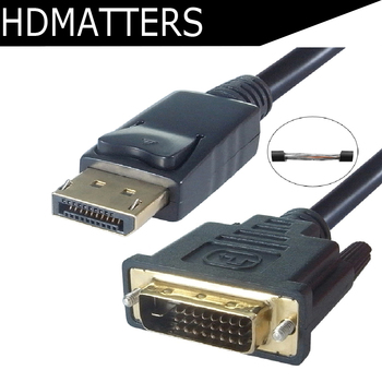 6ft 1.8M Displayport dp to DVI cable adapter displayport male to DVI-D male cable cord for HP Dell Lenovo Asus PC laptop monitor