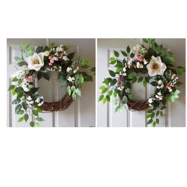 New Double Door Wreaths Magnolia Spring Summer Wreaths For Front