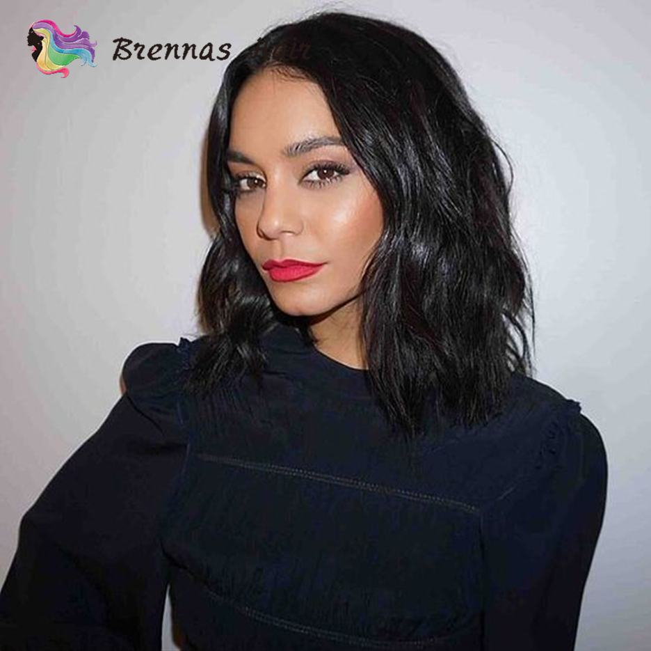 2019 New Hot Sell Fashion Short Wavy Bob Human Hair 13 4 Lace Front Wig for