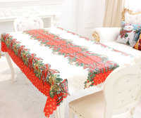 Christmas coffee table printed tablecloth Christmas decoration home new year decoration 150CM X 180CM