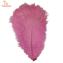 Natural Wedding-Decorations Ostrich-Feathers Crafts Plumes Carnival-Costumes Party Pink