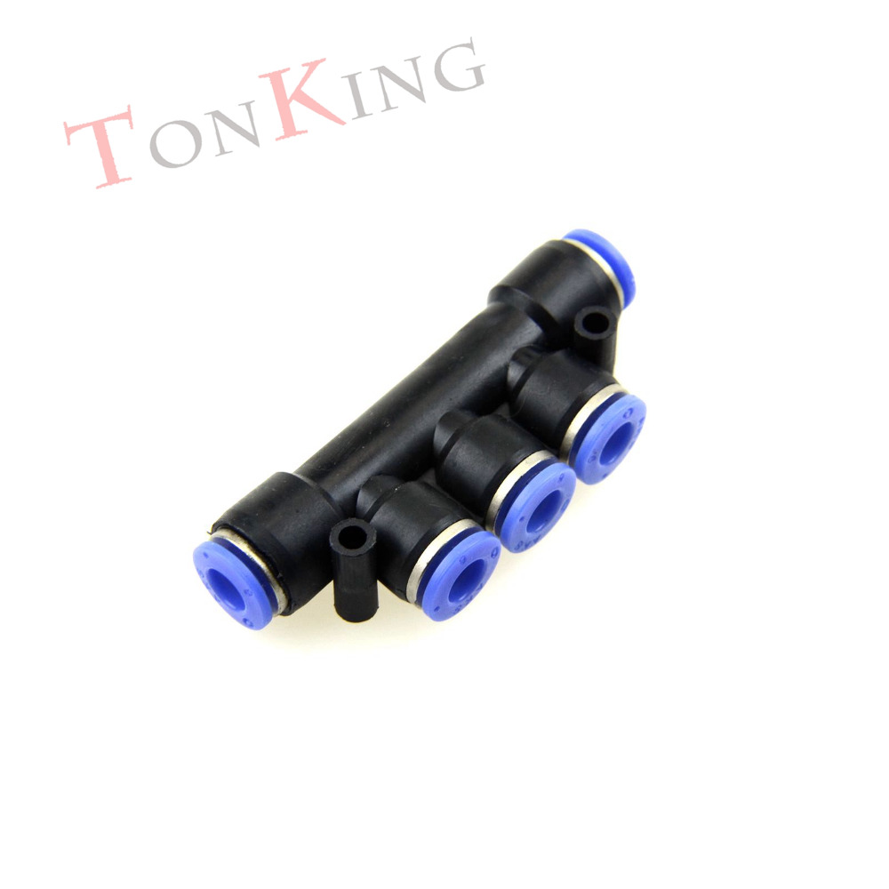 Pneumatic fitting quick connector Five  stright change PKG series Pneumatic Fitting For PU nylon Hoses  1 pack Air Connector pneumatic fitting quick connector bulkhead straight pm series pneumatic fitting for pu nylon hoses 1 pack air connector