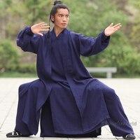 24 Цвета Лен комплект из 3 предметов монах Шаолиня Удан даосский тай чи костюм боевых искусств кунг фу Wing chun униформа
