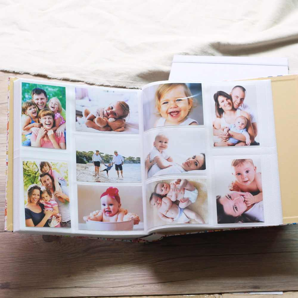 700 Pockets Premium -Leather Grain Frame Cover Large Family Wedding Anniversary Baby Growth Memorial Vacation Tourism Love Photo