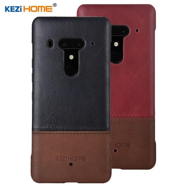 super popular 1494f d73ce US $11.98 20% OFF|Case for HTC U12 Plus U12+ KEZiHOME Luxury Hit Color  Genuine Leather Hard Back Cover capa For HTC U12 Plus 6.0'' Phone cases-in  ...