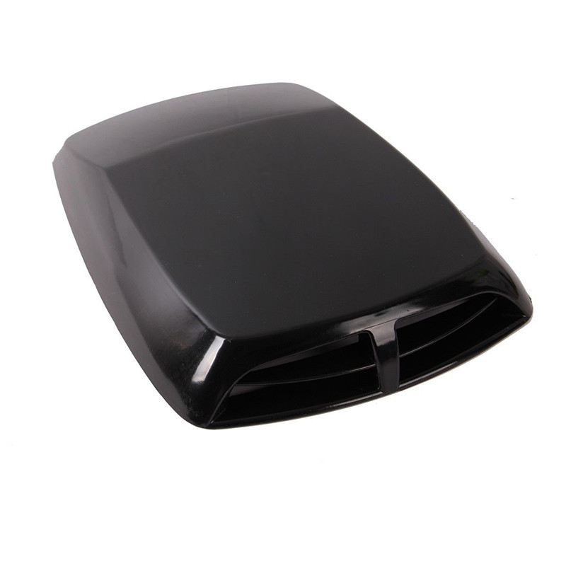 Car Air Flow Intake Bonnet Vent Cover Decorative Hood Scoop Design Black 2016 NEW car stickers car decorative air flow intake scoop turbo bonnet vent cover 4 colors hood decorate for renault logan
