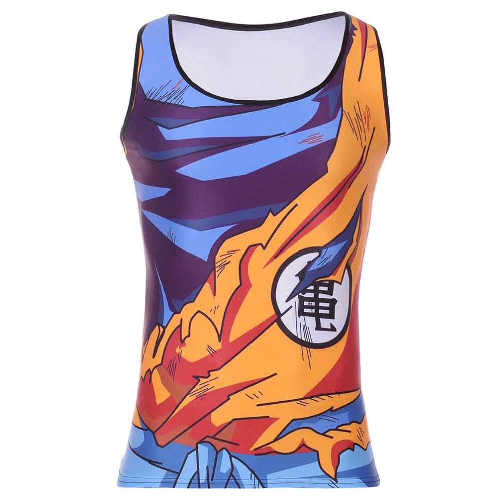 Heavy Saiyan Goku Dragonball Tank Hot Men Fitness Clothing Apparel Deadlift Shirt Men Tank Top Powerlifting Motivational Vest