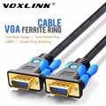 VOXLINK Premium VGA SVGA Cables 1M 1.8M 3M 5M Male to Male HD15 VGA cable Extension Video Cable With Ferrite Cores For Projector