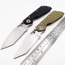 JSSQ Tactical Folding Knife 9Cr18Mov Blade Military Hunting Camping Survival Combat Knives Outdoor Pocket Utility EDC Tools OEM c185 stone wash folding knife hunting tactical survival combat knives camping edc utility tools titanium handle cpm v10 blade