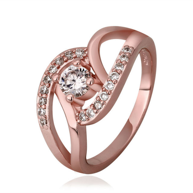 Designer Zirconia Finger Ring Set Korean Engagement Wedding Rings