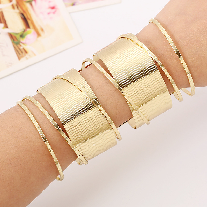 2018 Fashion Vintage Statement Gold Silver Plated Wide Cuff Bangle Bracelet Arm Bracelets For Women In Bangles From Jewelry Accessories On