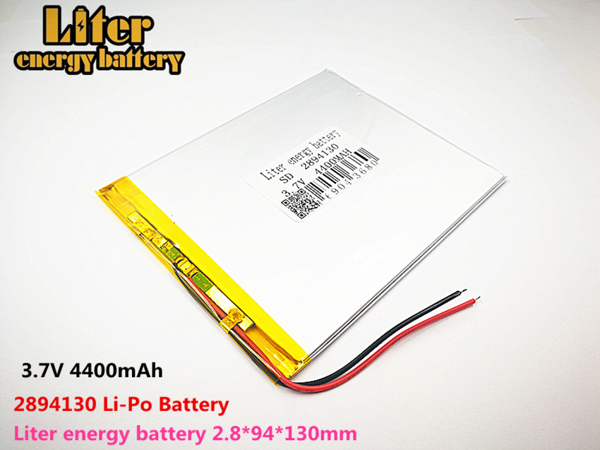 Liter energy <font><b>battery</b></font> Good Qulity <font><b>3.7V</b></font>,<font><b>4400mAH</b></font> 2894130 Polymer lithium ion / Li-ion <font><b>battery</b></font> for tablet pc BANK,GPS,mp3,mp4 image