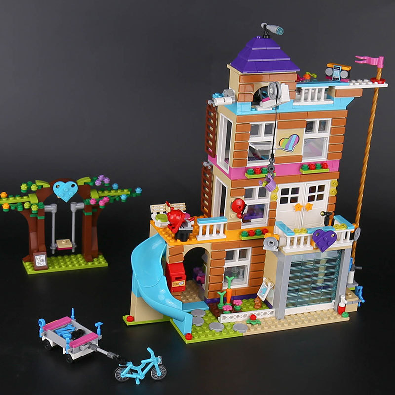 Lepin 01063 Girls Friend Series Toys The Friendship House Set Building Blocks Bricks Educational Toys Legoed Friends Block 41340 808pcs diy new girls series the friendship house set building blocks bricks friends toys for children compatible legoingly 41340