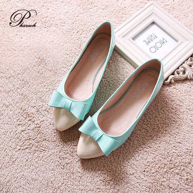 44ff1330ccaa Cute bow pointed toe women flat shoes fashion ballet flats for girls slip  on shoes woman Soft soles