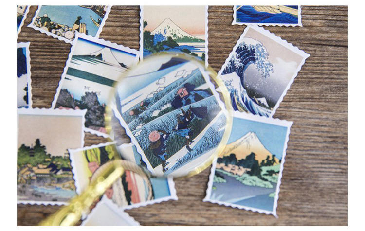 Купить с кэшбэком 46PCS/PACK Kawaii Drawing Mountain Sea Tree Sticker Marker Planner Diary Stationery Stickers Scrapbooking Bullet Journal sl1483
