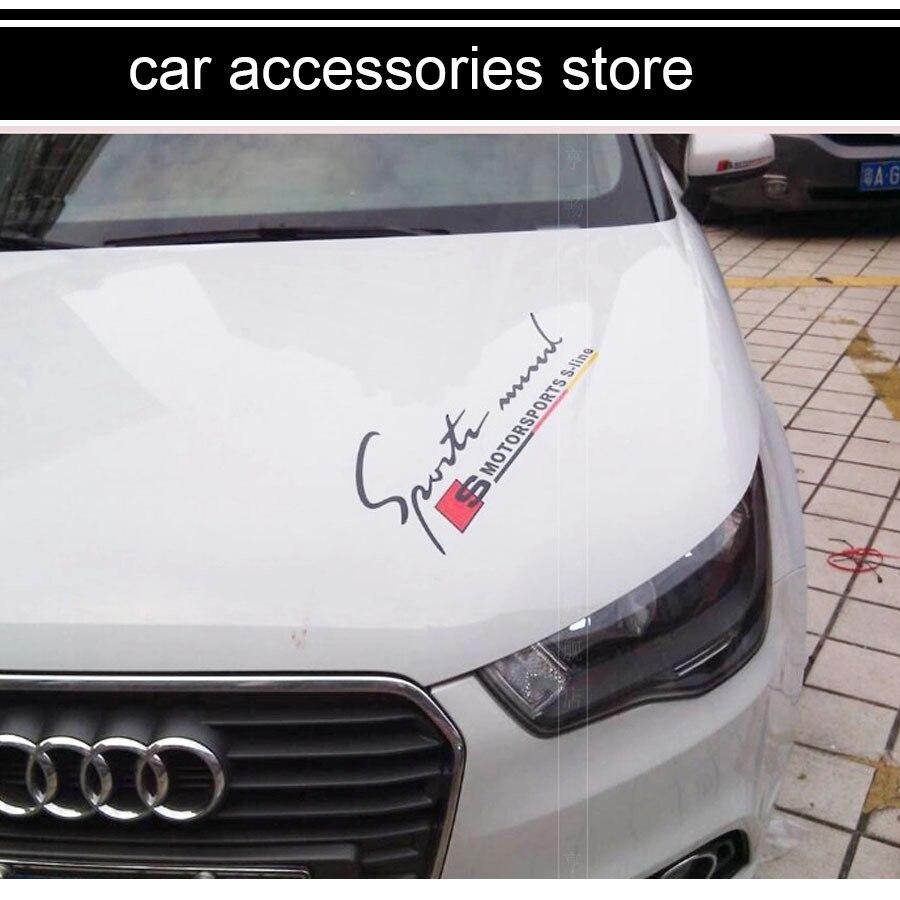 Free shipping sport fashion sticker car hood sticker car head sticker for audi a1 a3 a4 a6 a5 a7 q3 q5 q7 di dari aliexpress com alibaba group